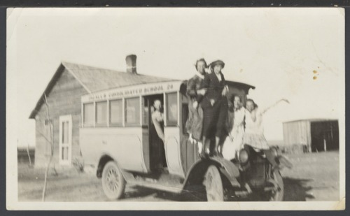 Ingalls school bus in Ingalls, Kansas - Page