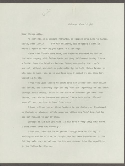 Joseph H. Trego correspondence