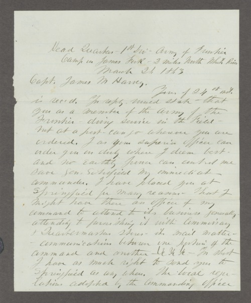 James Madison Harvey correspondence - Page
