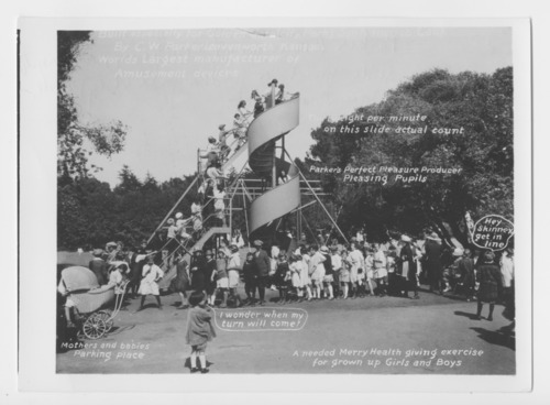 Playground slide, Parker Amusement Company - Page