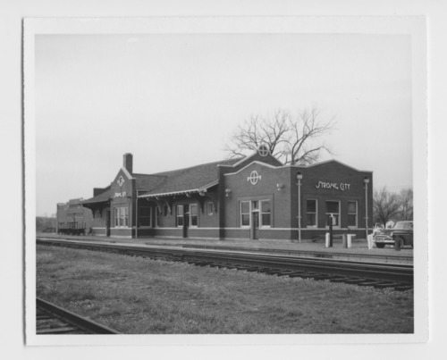 Atchison, Topeka and Santa Fe Railway Company depot, Strong City, Kansas - Page