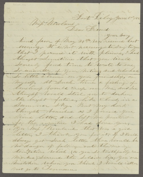 Letters to Kate Newland - Page