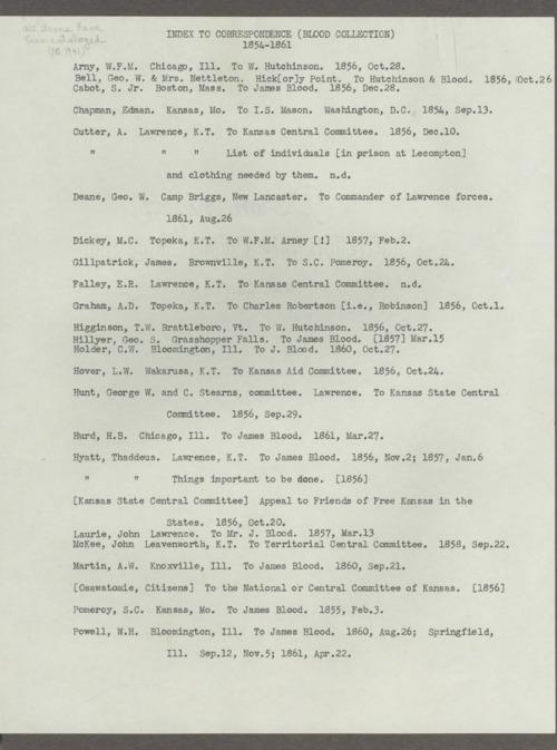 James Blood correspondence - Page