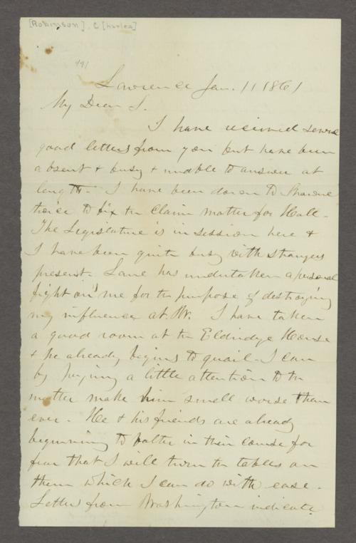 Charles and Sarah Robinson correspondence - Page