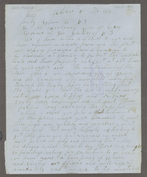 Territorial troubles correspondence, 1855-1856 - Page