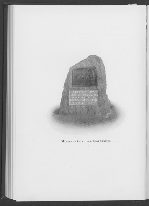 Santa Fe Trail marker, Lost Springs, Kansas - Page
