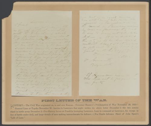 First letter of the war - Page