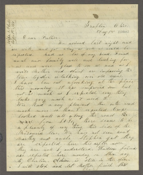 Correspondence between Samuel Lyle Adair, Florella Brown Adair, and their children - Page