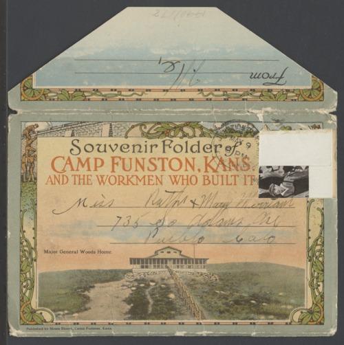 Souvenir folder of Camp Funston, Kansas, and the workman who built it - Page