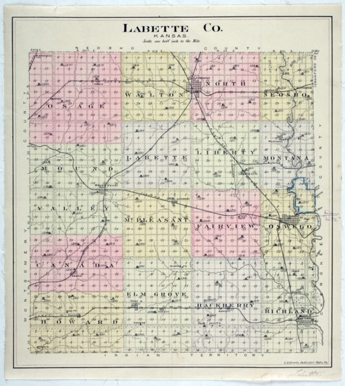 Map of Labette County, Kansas - Page