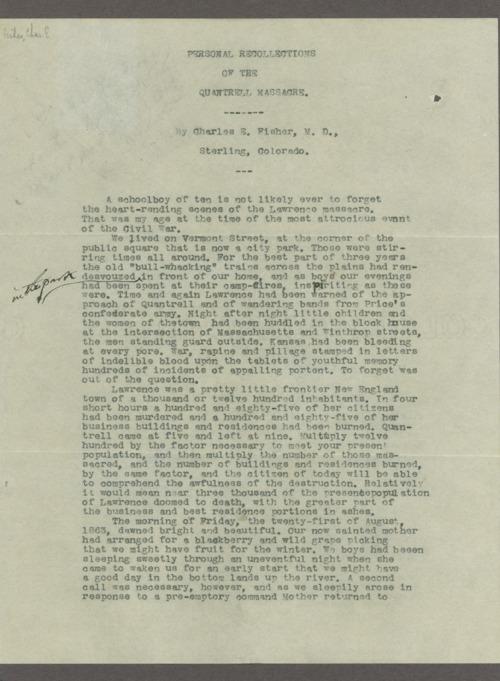 Hugh Fisher correspondence - Page
