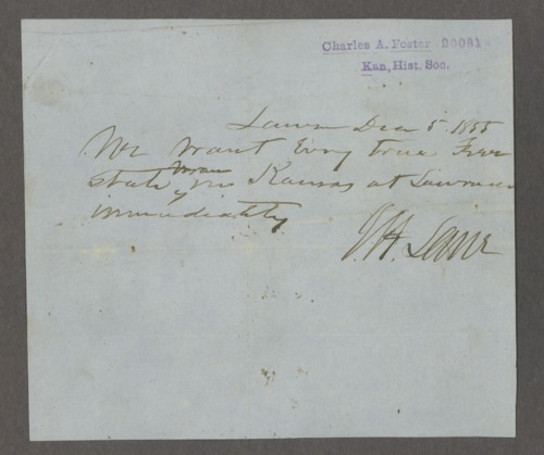 James H. Lane to Charles Foster - Page