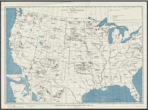 Map showing Indian reservations in the United States - Page