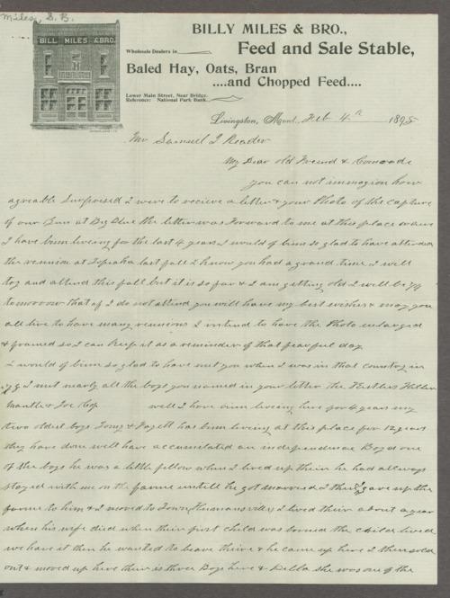 Samuel J. Reader correspondence - Page