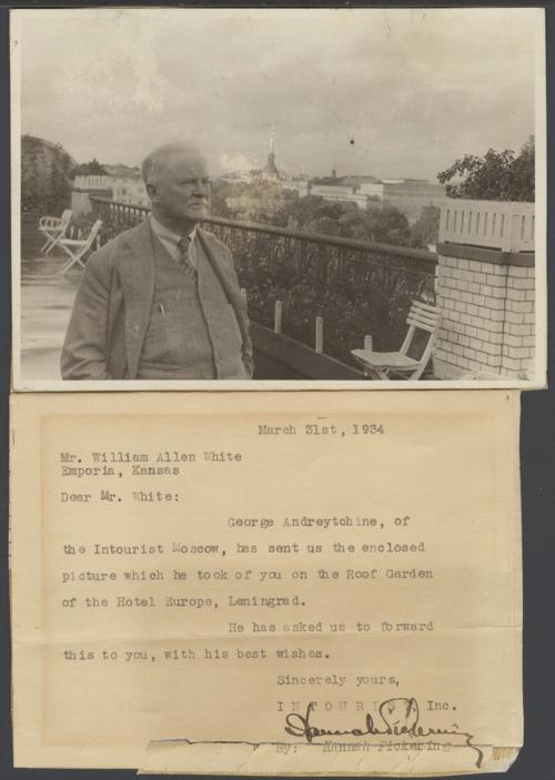 William Allen White in Leningrad, Russia - Page