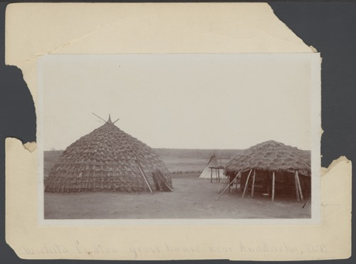 Wichita Indian grass house in Anadarko, Oklahoma - Page