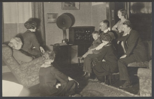 A. D. Birch listening to a radio in Topeka, Kansas - Page
