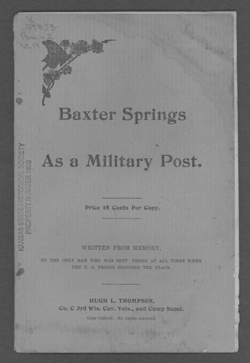 Baxter Springs as a military post - Page