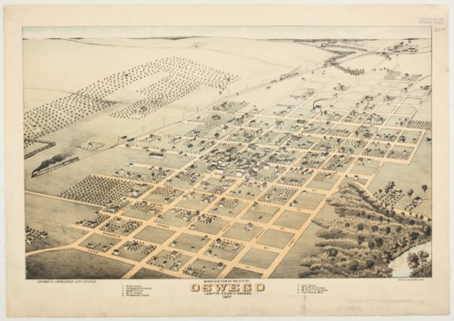 Bird's eye view of Oswego, Kansas - Page