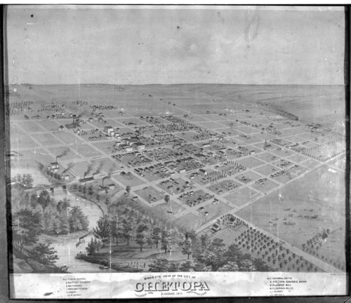 Bird's eye view of Chetopa, Kansas - Page