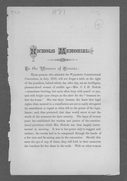 Nichols Memorial - Page