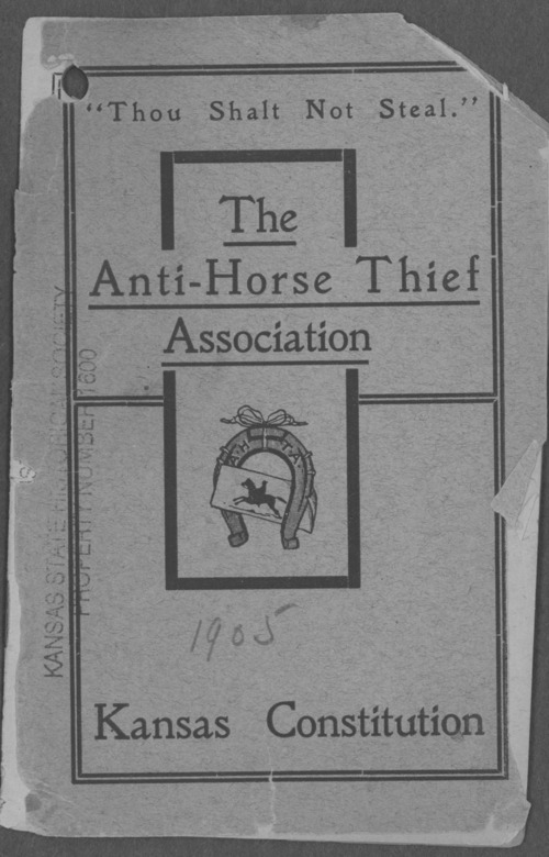 Constitution of the Anti-Horse Thief Association, Kansas Division