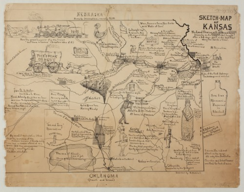 Sketch map of Kansas. The land flowing with men and money - Page