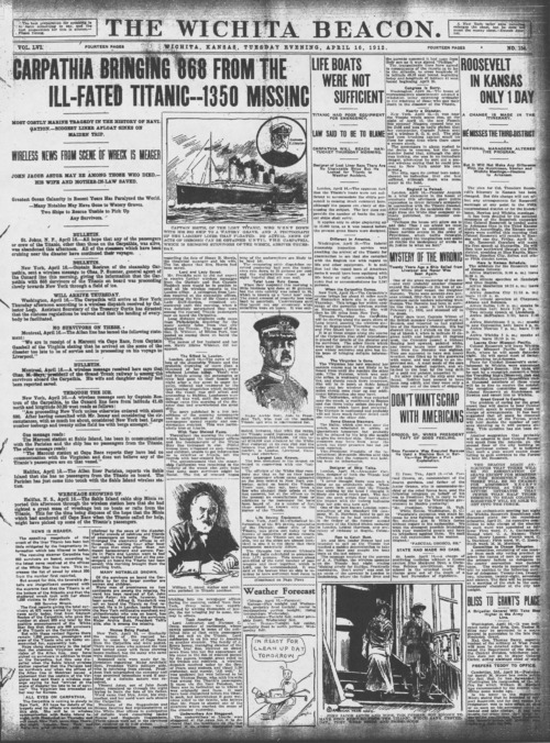 Wichita Beacon Titanic articles - Page