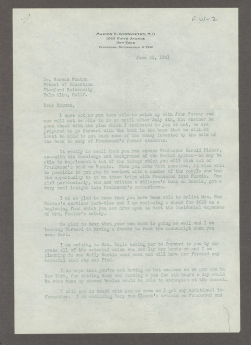 Frankwood E. Williams Papers - Page