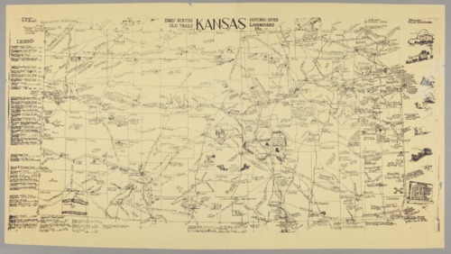 Kansas : early routes, old trails, historic sites, landmarks, etc. - Page