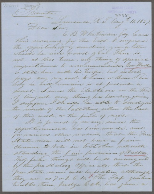 Thomas J. Marsh to George L. Stearns - Page