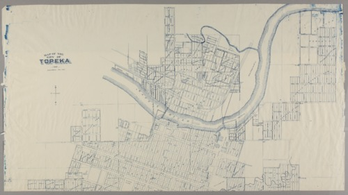 Map of the city of Topeka (blueline) - Page