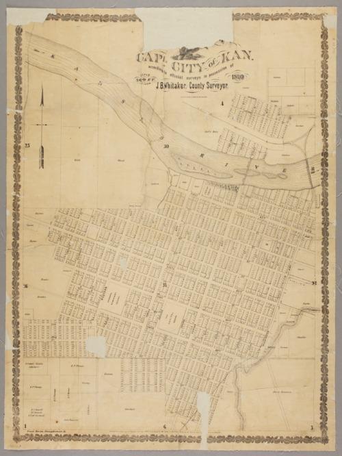 Plat of Topeka. Capital city of Kansas - Page
