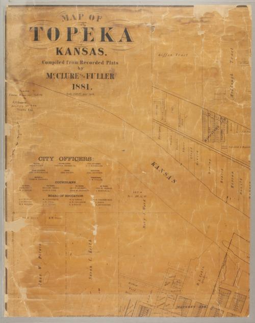 Map of Topeka, Kansas - Page