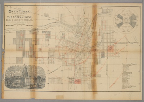 Map of the city of Topeka and suburbs engraved for the Topeka Union and Security Company - Page