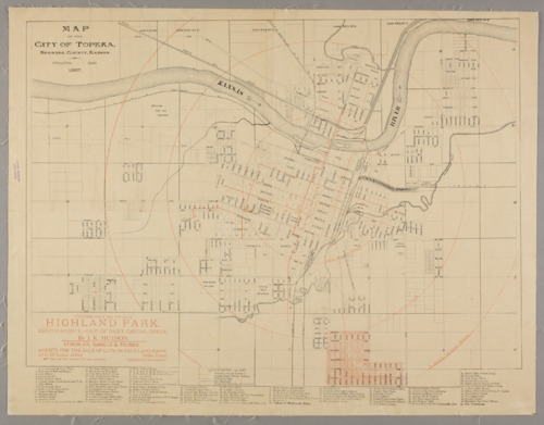 Map of the city of Topeka, Shawnee County, Kansas - Page