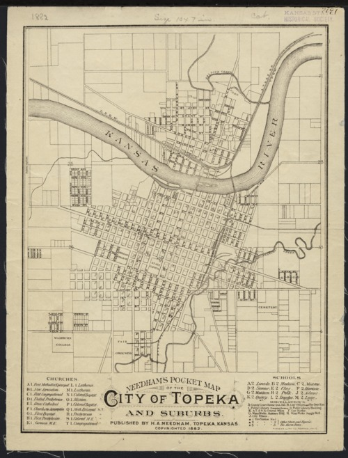 Needham's pocket map of the city of Topeka and suburbs - Page