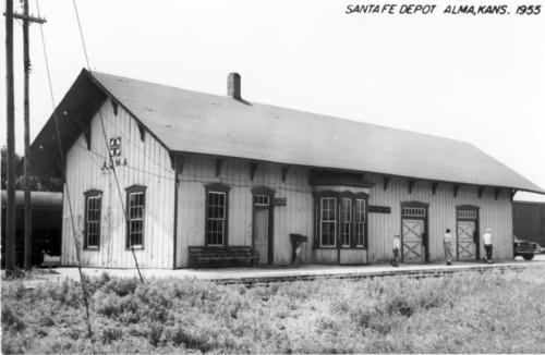 Atchison, Topeka & Santa Fe Railway Company depot, Alma, Kansas - Page