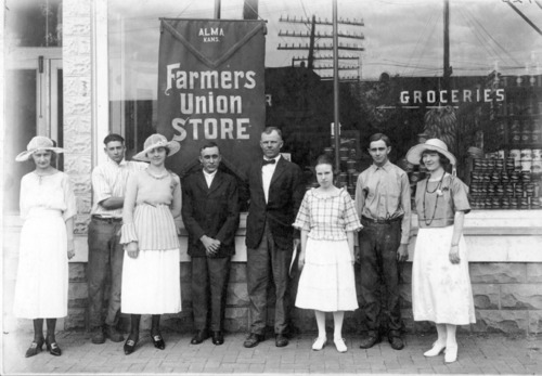 New Farmers Union Store, Alma, Ks, opened in early 1909. - Page