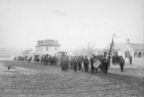 Funeral procession of William Schroeder, Alma, Ks - Page