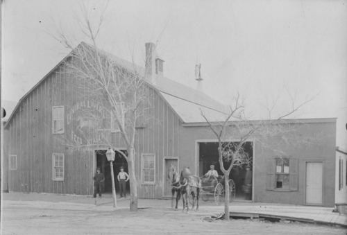 August Utermann's Central Livery and Feed Stable, 316 Missouri, Alma, Ks - Page