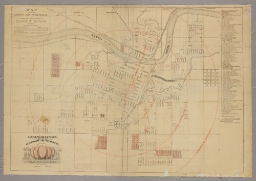 Map of the city of Topeka - Page