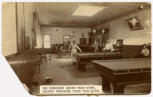 Interior, Palace Billiard Hall, 300 Missouri Street, Alma, Kansas - Page