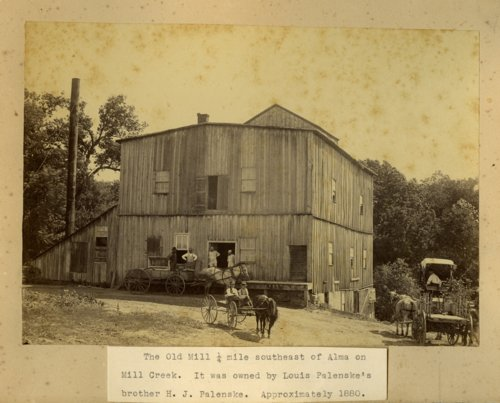 Lorenzo Pauly's Mill south of Alma, Kansas - Page
