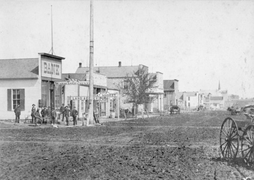 View of west side of Alma, Kansas, 300 block of Missouri Street - Page