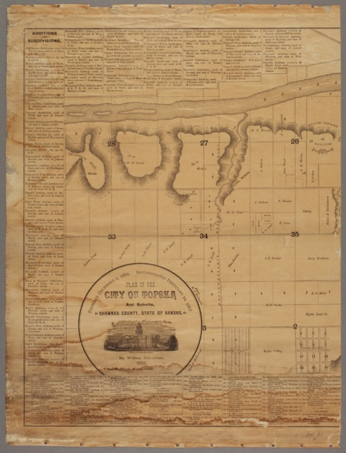 Plan of the city of Topeka and suburbs, Shawnee County, state of Kansas - Page