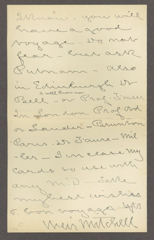 Silas Weir Mitchell papers - Page