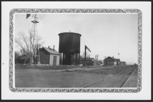 Union Pacific water tank and depot in Rossville, Kansas - Page