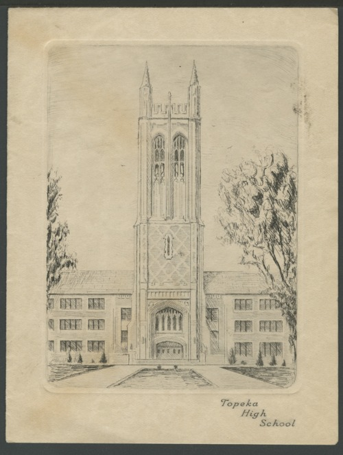 Topeka High School tower in Topeka, Kansas - Page