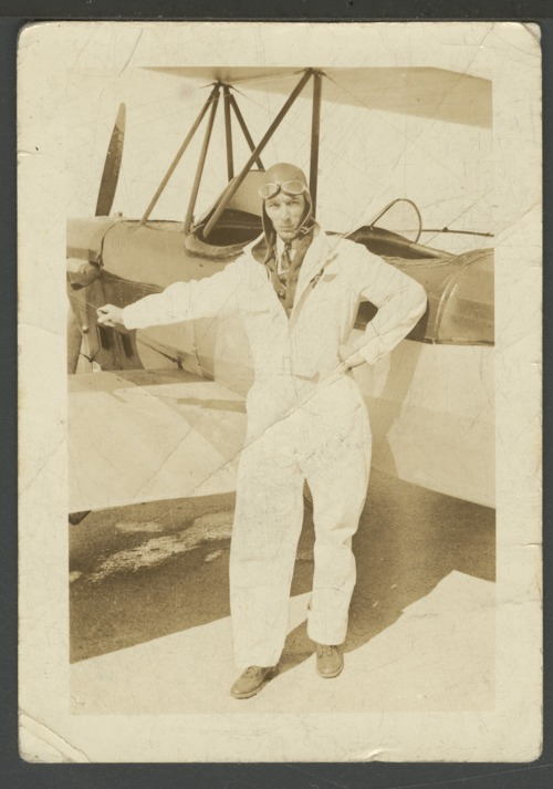 Orville F. Newton with an airplane - Page